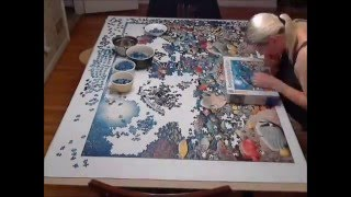 "getlinkyoutube.com-5,000 piece Ravensburger Puzzle ""Beneath the Sea"" Time Lapse"