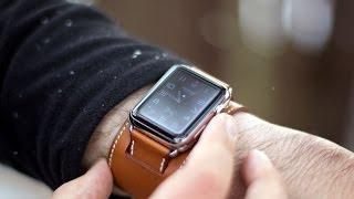 getlinkyoutube.com-Apple Watch Hermès cuff hands on!