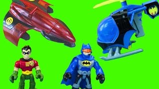 getlinkyoutube.com-Imaginext Batman Batcopter Joker Green Lantern DC Super Friends Gift set and Robin Plane