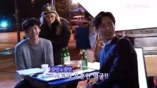 getlinkyoutube.com-Lee Jong Suk  & Park Hae Jin in DrStranger BTS