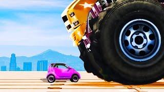 getlinkyoutube.com-INDESTRUCTIBLE CAR vs. MINI CAR! (GTA 5 Funny Moments)