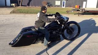 "getlinkyoutube.com-F Bomb Baggers 2015 Harley Bagger Turbo 30"" Street Glide with Killer Sounds"