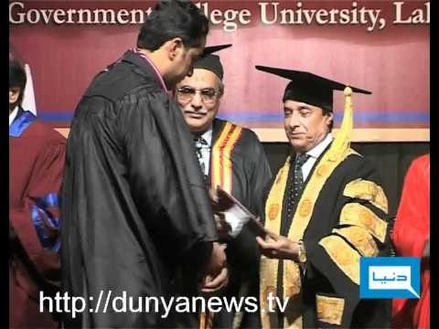 Dunya News-22-02-2012-GCU Convocation in Lahore
