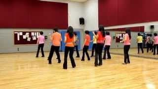 getlinkyoutube.com-Angel In Blue Jeans - Line Dance (Dance & Teach in English & 中文)