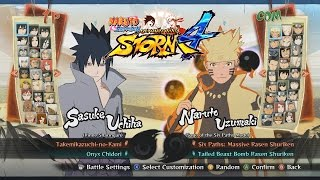 getlinkyoutube.com-Naruto Shippuden Ultimate Ninja Storm 4 All Characters, Costumes, Forms, Jutsu, Stages
