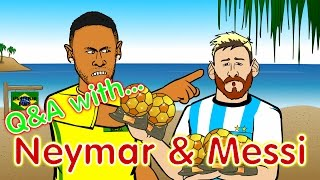 getlinkyoutube.com-Neymar & Messi Q&A! (PARODY Brazil vs Argentina 3-0 World Cup 2018 Qualifier)