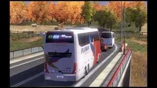 getlinkyoutube.com-Euro Truck Simulator 2  With Bus Paradiso LD 1600 Pluma HD