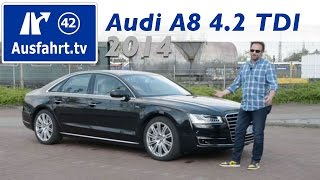 2014 Audi A8 4.2 TDI V8 - Fahrbericht der Probefahrt  Test   Review