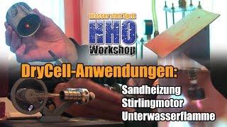 getlinkyoutube.com-DryCell Anwendungen: Sandheizung, Stirlingmotor, Unterwasserflamme