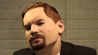 """getlinkyoutube.com-Studio 135 """"Chiseled"""" Silicone Mask with Hand Punched Eyebrow, Goatee and Full head of Hair"""