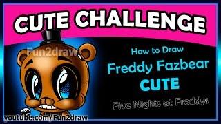 getlinkyoutube.com-CUTE Five Nights At Freddy's - How to Draw Freddy Fazbear Easy step by step Fun2draw Art