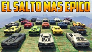 getlinkyoutube.com-EL SALTO MAS EPICO CON DOBLE VOLTERETA - Gameplay GTA 5 Online Funny Moments (Carrera GTA V PS4)