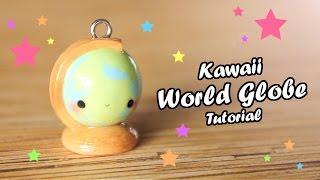 getlinkyoutube.com-Kawaii World Globe │ Polymer Clay Tutorial (Back To School)