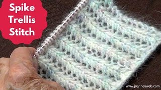 getlinkyoutube.com-Knitting Spike Trellis Stitch