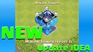 getlinkyoutube.com-Clash of Clans NEW MINION TOWER! Clash of Clans New Defense IDEA!