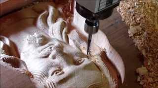 getlinkyoutube.com-Entalhe em madeira - CNC Metallab