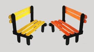 getlinkyoutube.com-How To Make Pop Stick Bench || Tcraft