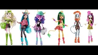 getlinkyoutube.com-New Monster High Brand - Boo Students and Ghouls Getaway Dolls