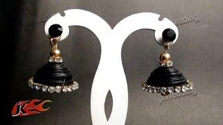 getlinkyoutube.com-DIY Wedding Quilling Jhumka  | How to make | JK Wedding Craft 017