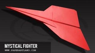 getlinkyoutube.com-Papierflieger selbst basteln. Papierflugzeug falten - Beste Origami Flugzeug | Mystical Fighter