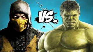 getlinkyoutube.com-Scorpion vs Hulk - Epic Battle