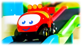 getlinkyoutube.com-CARS FOR CHILDREN VIDEO: Toy Car with Racing Track, Set Mega Speedway Toys Review