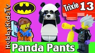 getlinkyoutube.com-Trixie 13 Panda Pants Lego Imaginext Batman by HobbyKidsTV