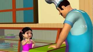 getlinkyoutube.com-Pat a cake Pat a cake - 3D Animation Nursery rhyme with lyrics for children