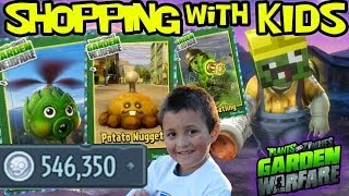 getlinkyoutube.com-Plants vs. Zombies Garden Warfare: All Plant Upgrades! Shopping w/ Mike 546k+ Coins *MONEY EXPLOIT