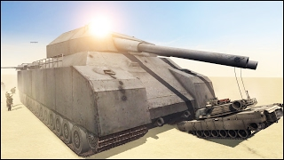 getlinkyoutube.com-VER. 2 - MORE REAL - 20 P1000 RATTE vs 100 ABRAMS - Men of War Assault Squad 2 - Editor Scenario #78