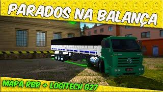 getlinkyoutube.com-Fomos parado na Balança -Mapa RBR - Euro Truck simulator 2 - LOGITECH G27