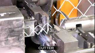 getlinkyoutube.com-Chain link fence machine. Mesh making machine. Fence making machine.