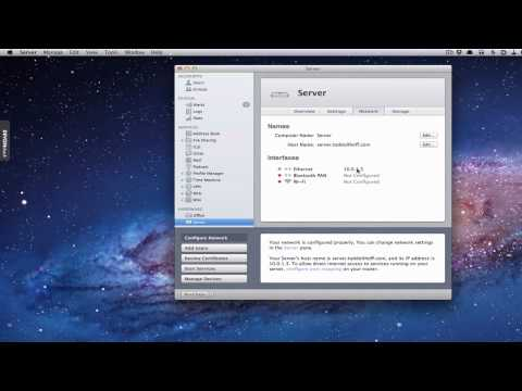 Mac OS 10.7 Lion Server Part 2: Network Set Up