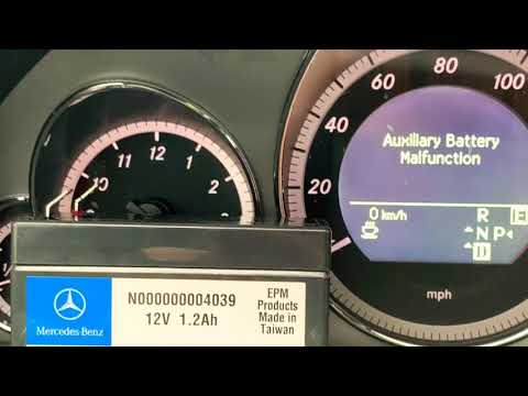 Removing Replacing Mercedes Auxiliary Battery on W212 E Class 550 350 63 AMG