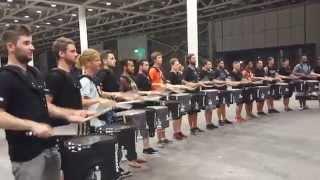 getlinkyoutube.com-Top Secret Drum Corps of Basel meets the Blue Devil Percussion Team of Concorde California