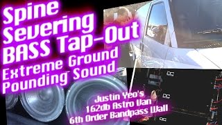 "getlinkyoutube.com-Spine Severing BASS Tap-Out - 6 18"" Subwoofers - 6th Order Bandpass Wall 162db"