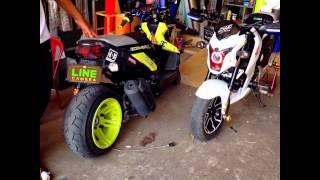 getlinkyoutube.com-Honda MSX 125 Motorcycle Custom Modification/ CAMBODIA IN KAMPOT CITY (PART 2)