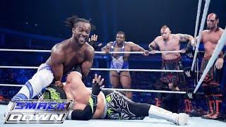 getlinkyoutube.com-8-Man Tag Team Match: SmackDown, July 30, 2015