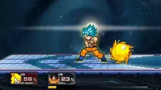 getlinkyoutube.com-super smash flash 2 super sonic vs goku ssj blue