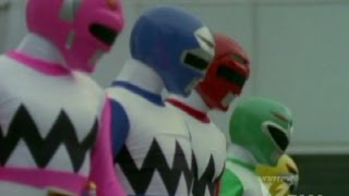 getlinkyoutube.com-Power Rangers Lost Galaxy - Race to the Rescue - Power Rangers vs Radster