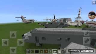 getlinkyoutube.com-MinecraftPEสอนสร้างเครื่องบินตรวจการณ์ขนาดกลาง