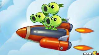 getlinkyoutube.com-Plants Vs Zombies 2: Sky Castle World Air Force Battle Mini Game! (PVZ 2 China)