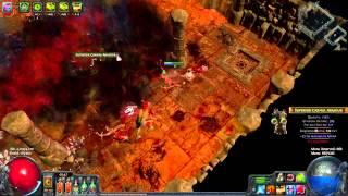 getlinkyoutube.com-Beta L23 Poison Arrow vs Atziri First Attempt