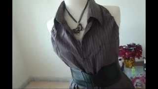 getlinkyoutube.com-Camisa a blusa de mujer
