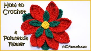 getlinkyoutube.com-How to Crochet a Poinsettia Flower