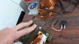 Transformador de micro ondas modificado Trafo 12v 20A fonte carregador automotivo