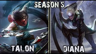 getlinkyoutube.com-Best Talon Korea vs Diana MID Ranked Challenger