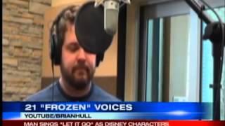"""getlinkyoutube.com-Man sings """"Let It Go"""" in voices of 21 Disney characters"""