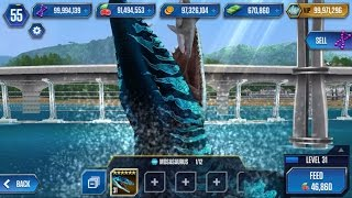 getlinkyoutube.com-MOSASAURUS Legendary Max Lv40 Look STRONGER - Jurassic World The Game
