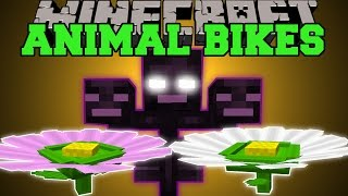 getlinkyoutube.com-Minecraft: NEW ANIMAL BIKES (RIDE A GIANT FLOWER & THE WITHER!) Mod Showcase